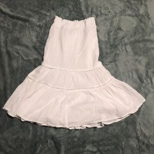 Cat and jack long white girls skirt size 6/6x